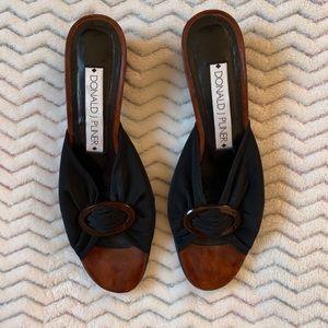 Donald J Pliner Black/brown Sandals Sz 7 1/2 M
